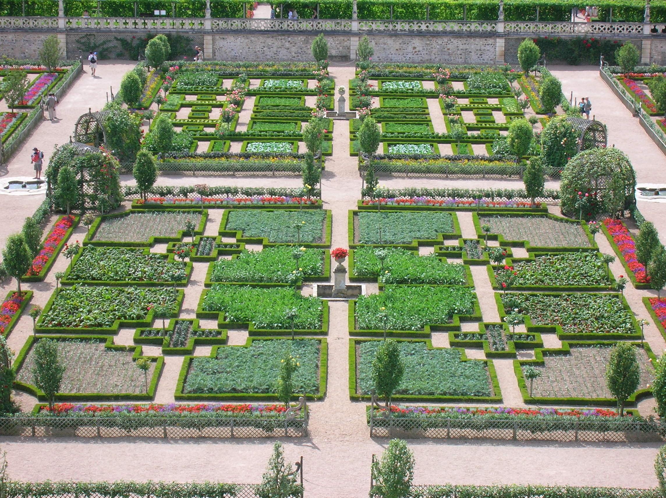 File jardin de villandry jpg wikimedia commons for Jardin 0 la fran9aise