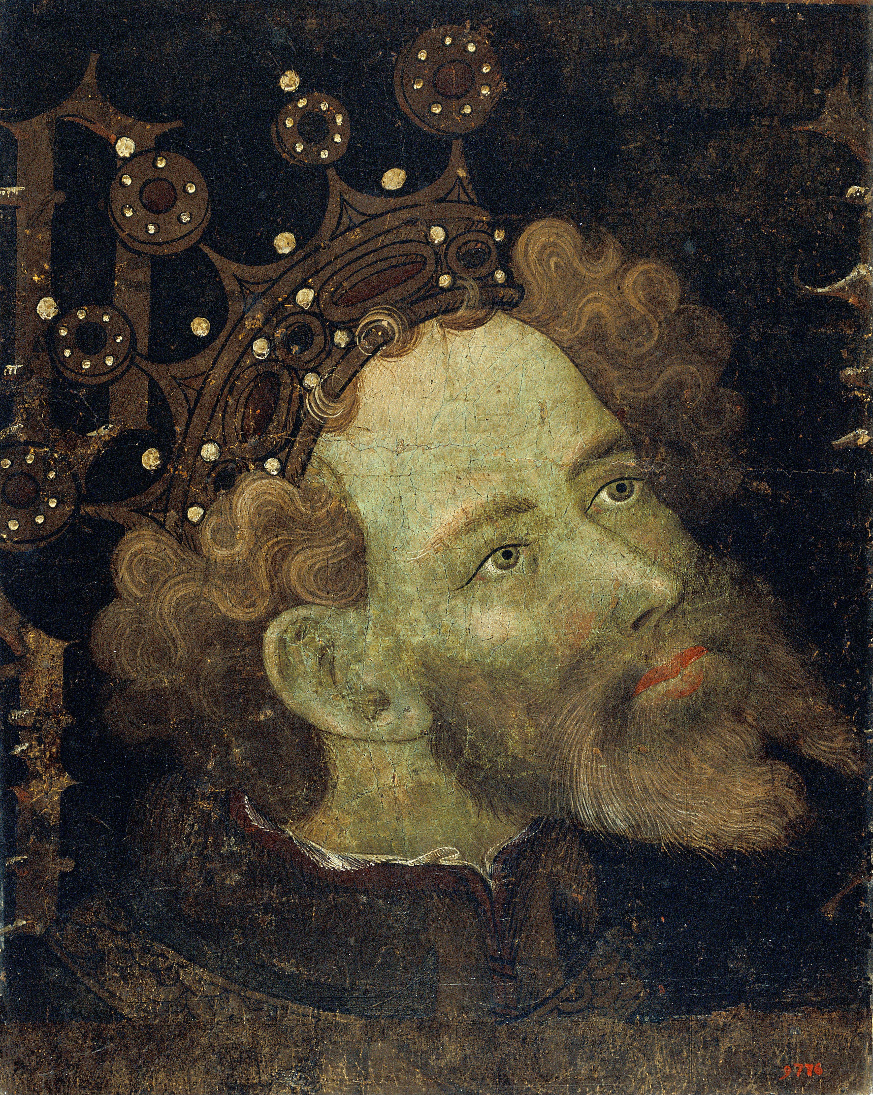 Retrato Pedro IV s. XV por Jaume Mateu y Gonçal Peris