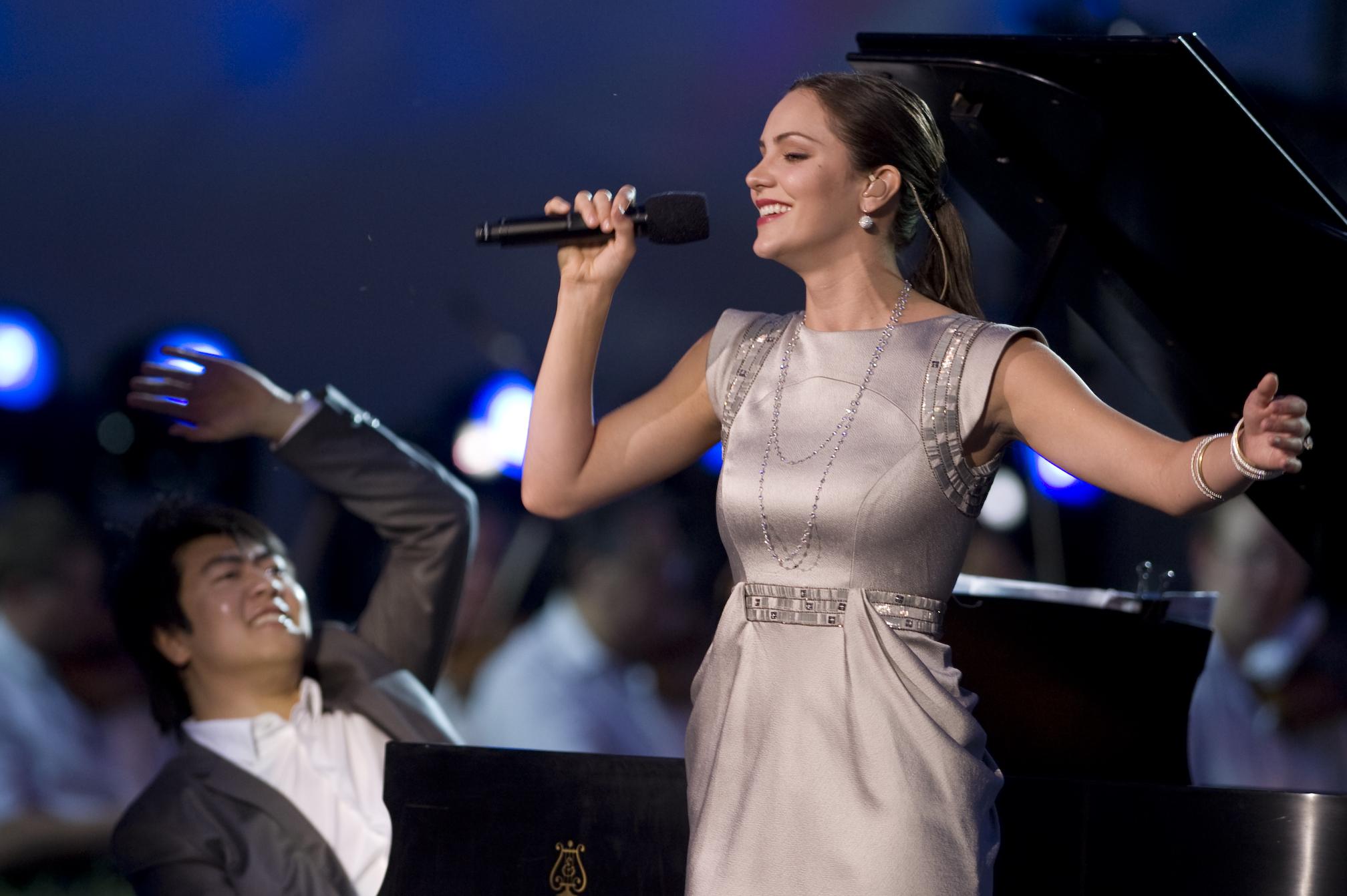 Lang Lang and singer [[Katharine McPhee