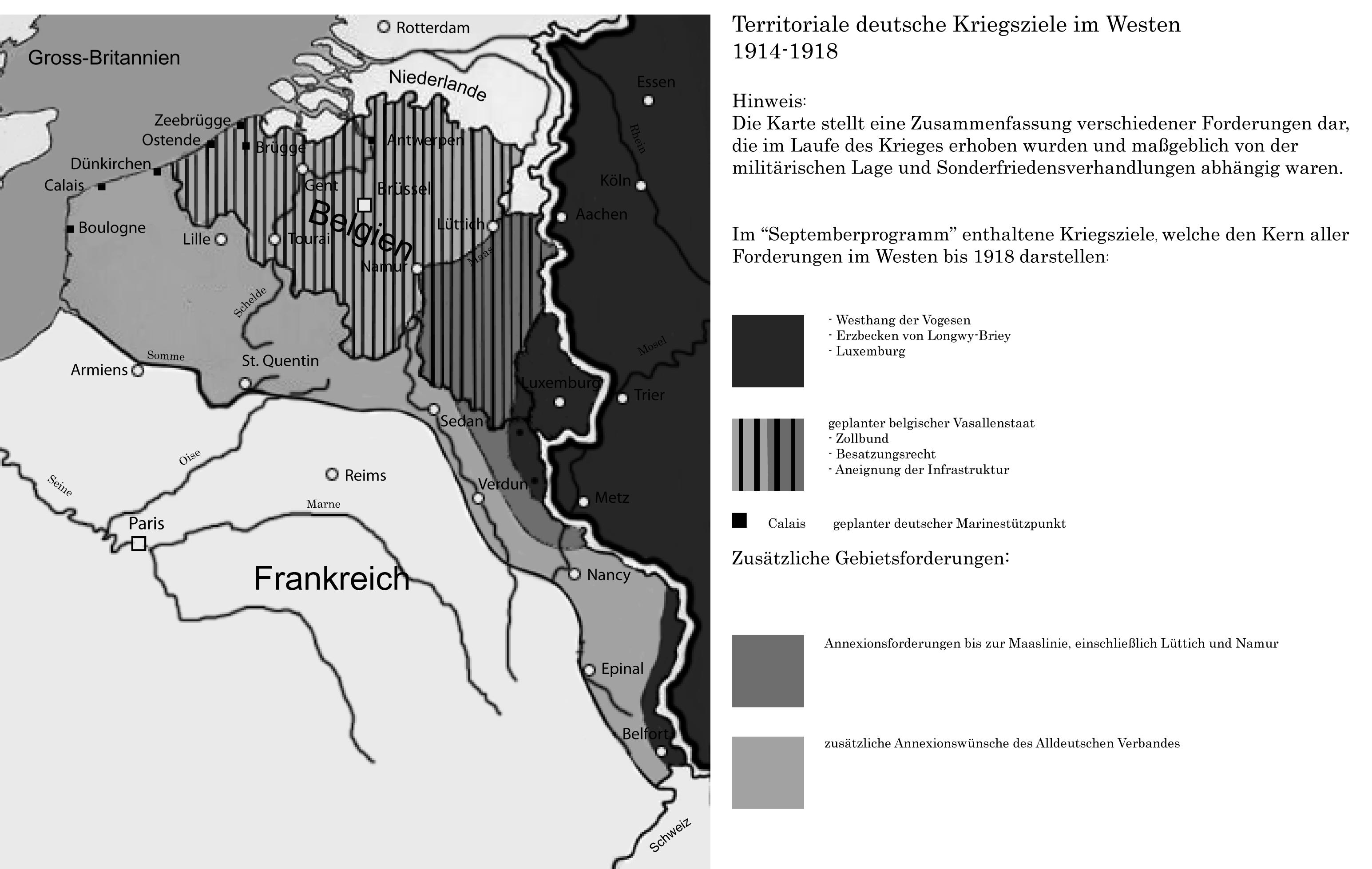 Deutsche Kriegsziele im Westen