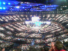Insidan av Lakewood Church