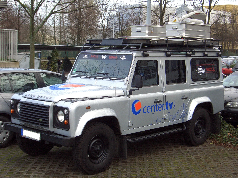 File:Land Rover Defender 110 Gen1 broadcast vehicle CENTER TV ...