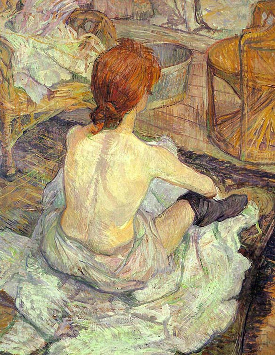 File lautrec woman at her toilette wikimedia for Peinture toilette
