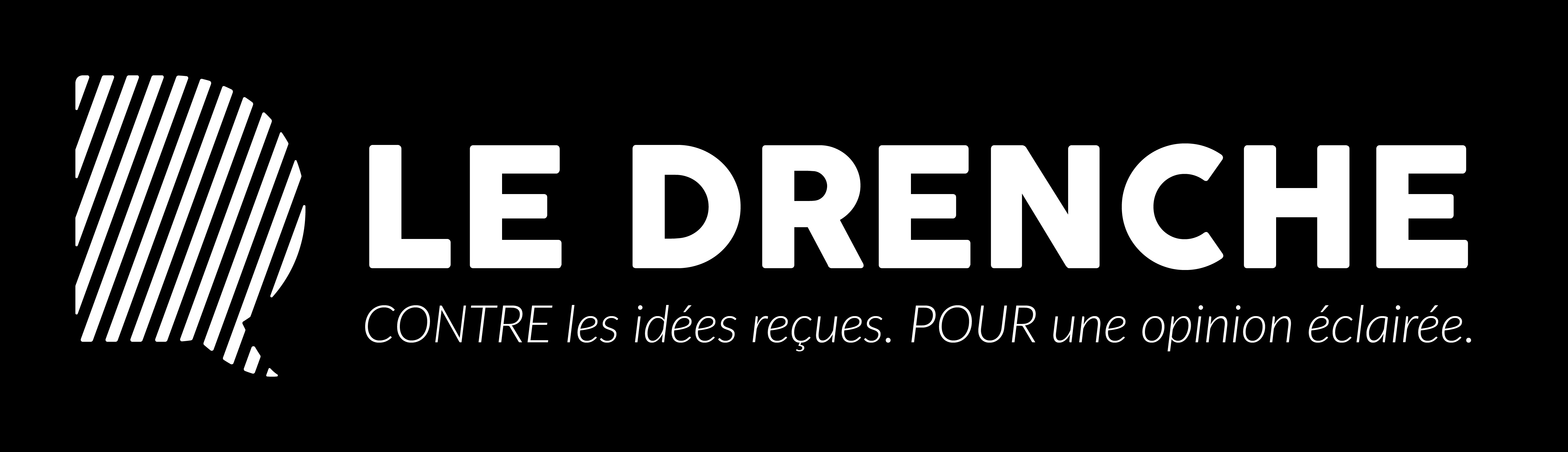 File Le Logo Du Journal Le Drenche Sur Fond Noir Jpg Wikimedia Commons