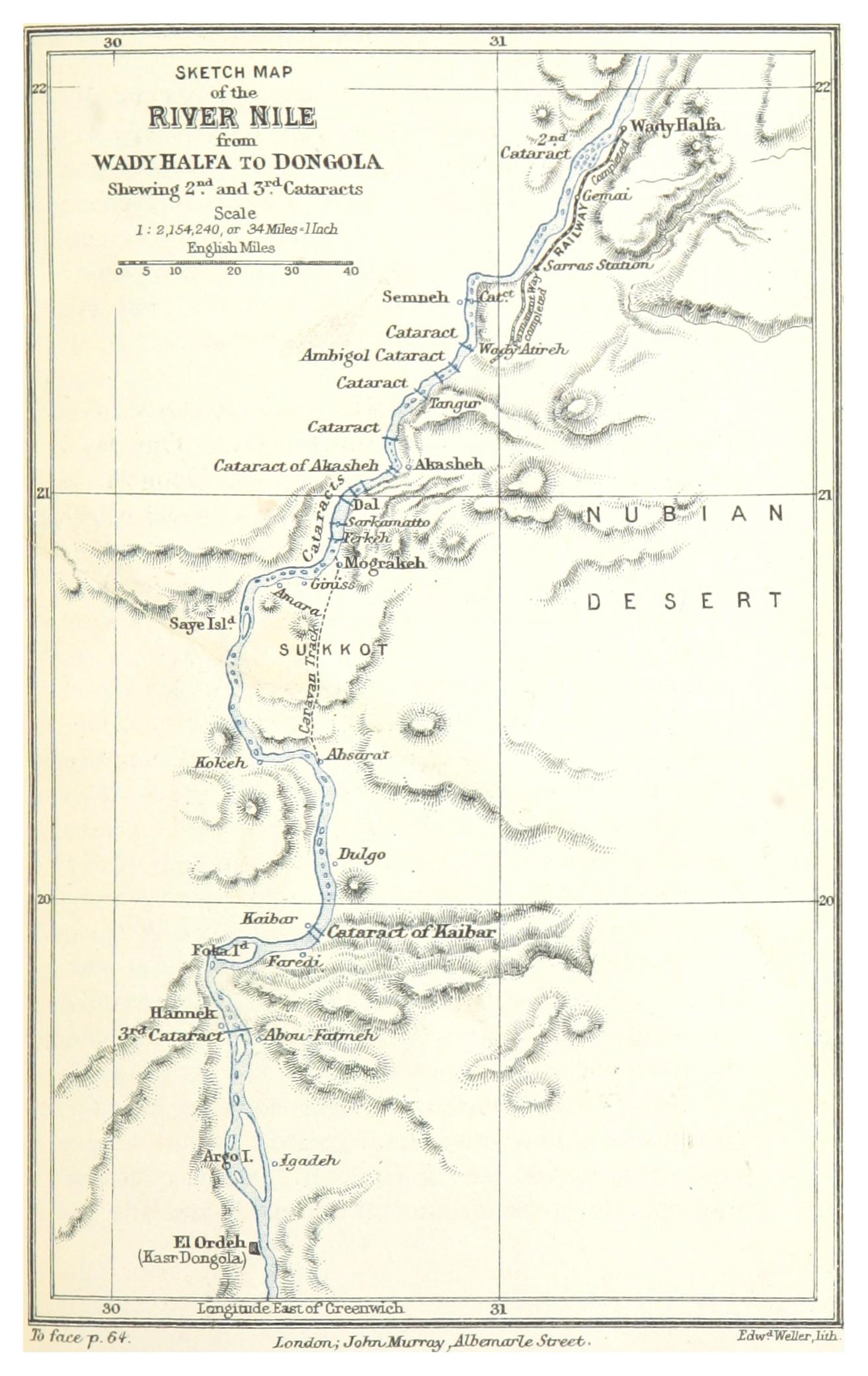 FileMACDONALD1887 p085 SKETCH MAP OF THE RIVER NILE WADY HALFA