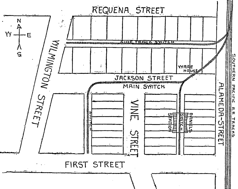 file map of proposed warehouse center in los angeles