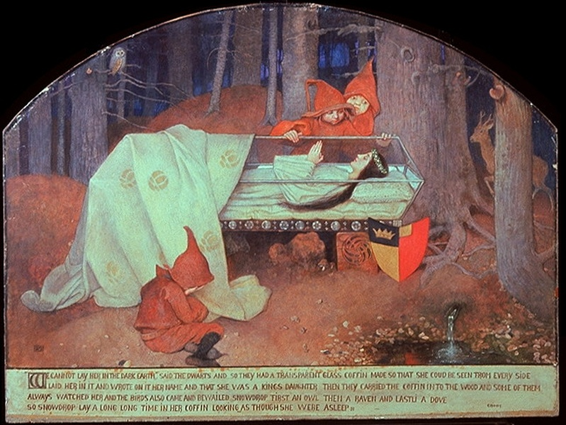 Biografia y Obras de los Pintores de la Hermandad Prerrafaelita - I Marianne_Stokes_Schneewittchen