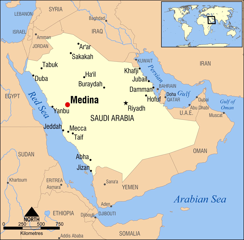 Maps: Map Saudi Arabia Hegira Map