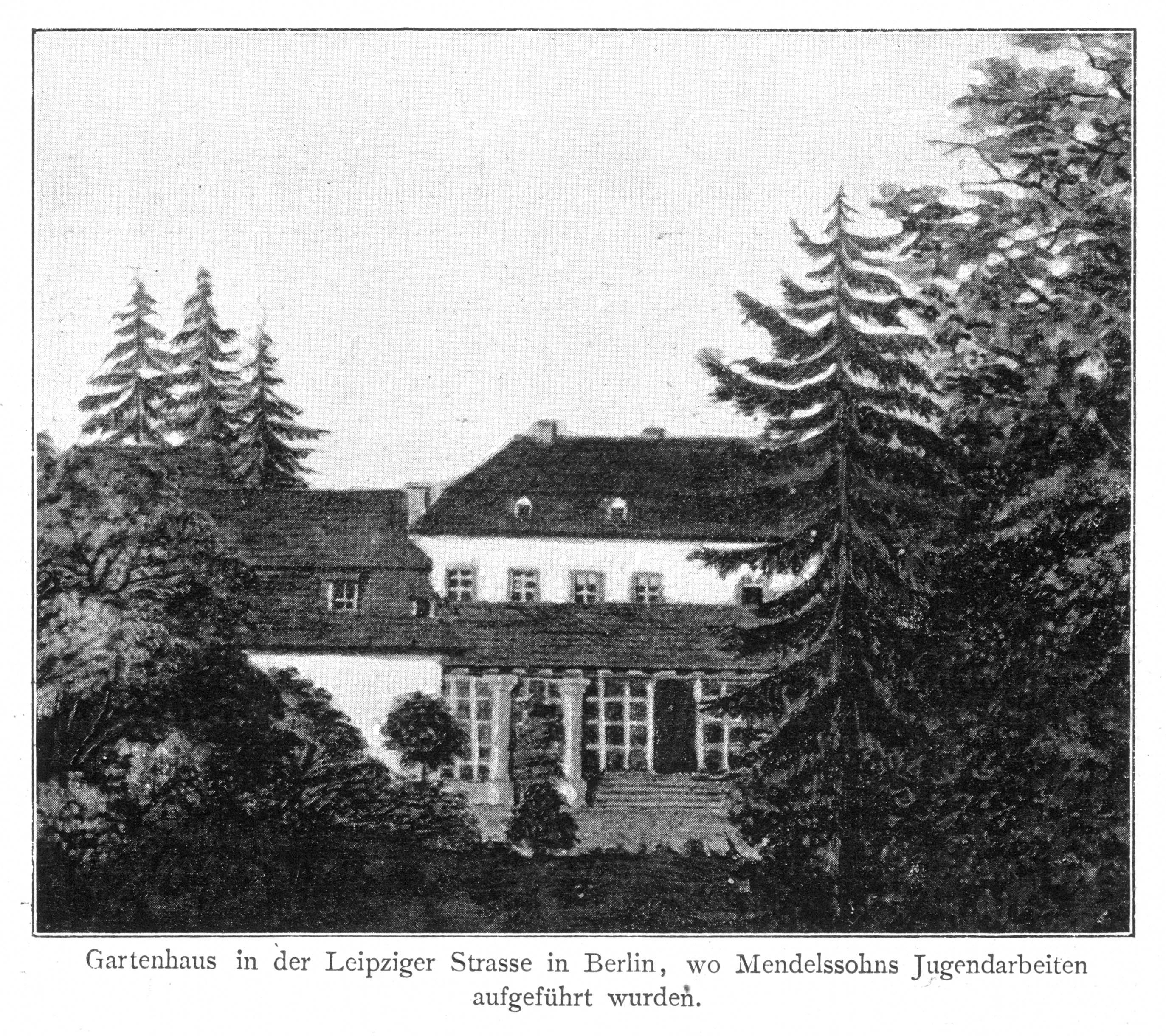 Das Gartenhaus der Familie Mendelssohn Bartholdy in der Leipzigerstraße 3 in Berlin