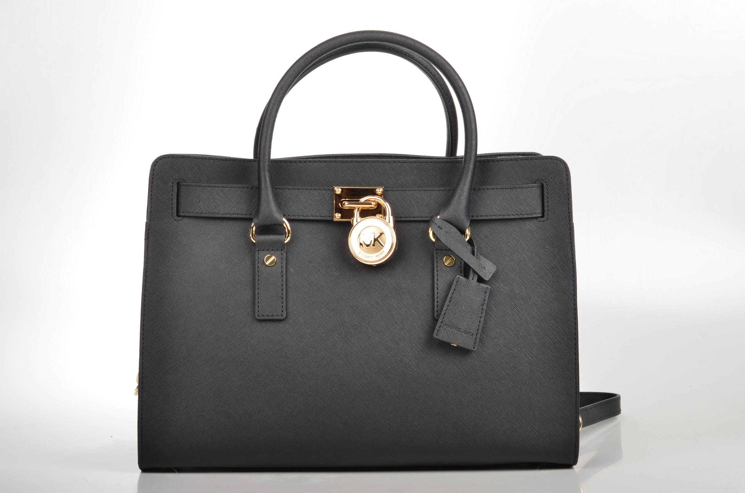 062638a1b803e File Michael Kors Hamilton LG EW Satchel Handtasche 30F4GHMS7T Kalbsleder  schwarz - gold (1) (15920710303).jpg