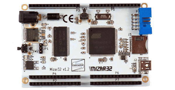 The main board of the Mizar32 embedded computer