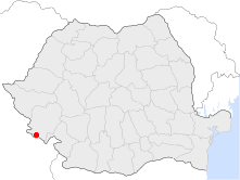 Location of Moldova Nouă