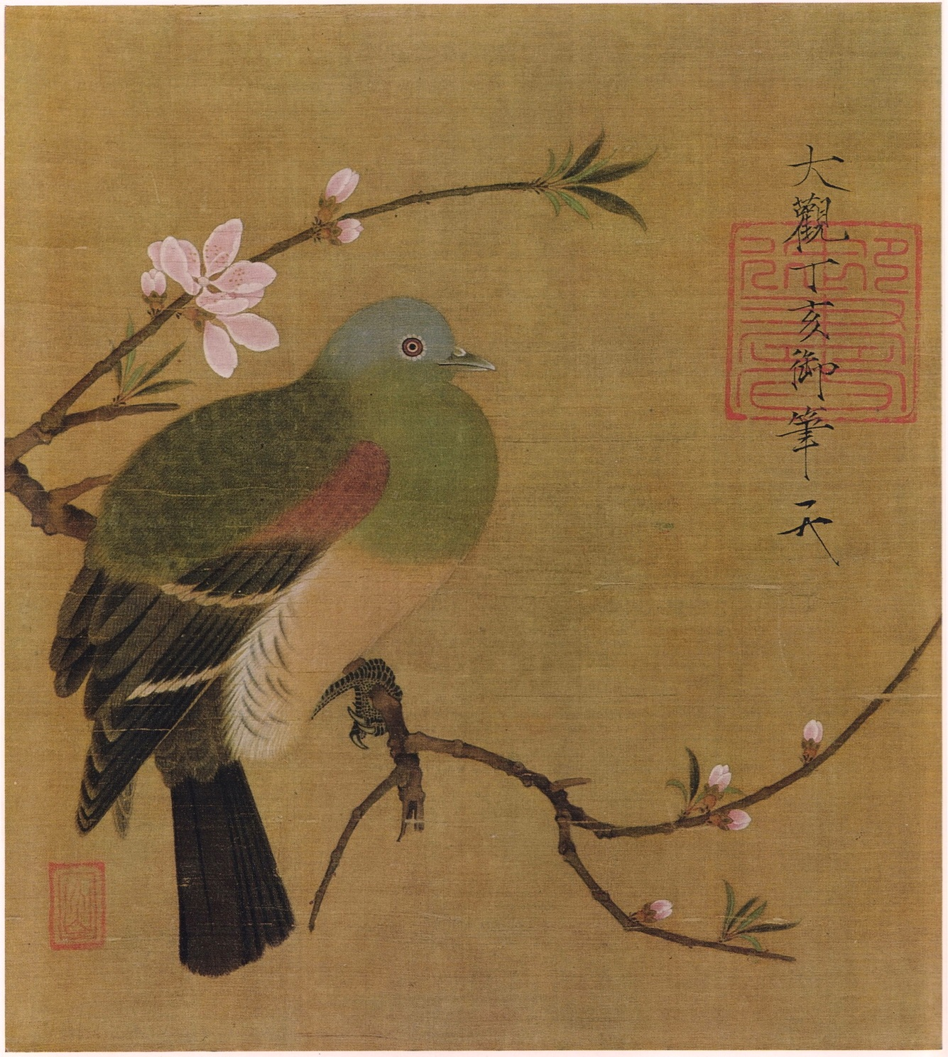 Emperor Huizong of Song - Pigeon on a Peach Branch