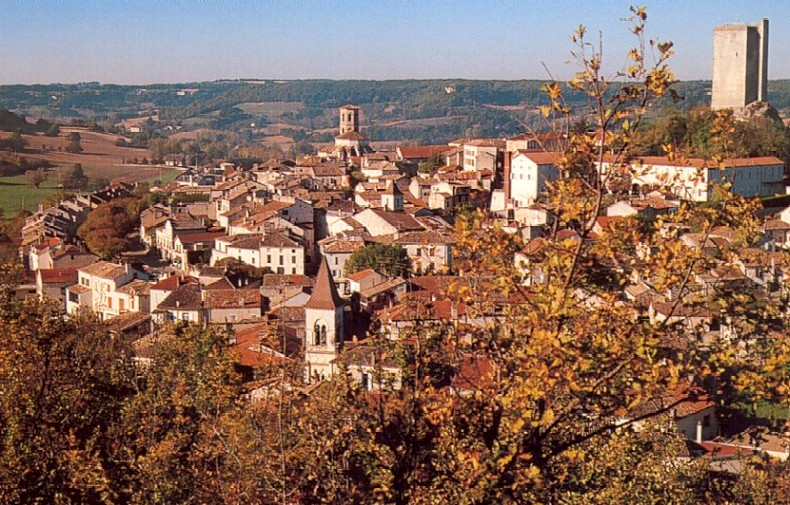 A general view of Montcuq