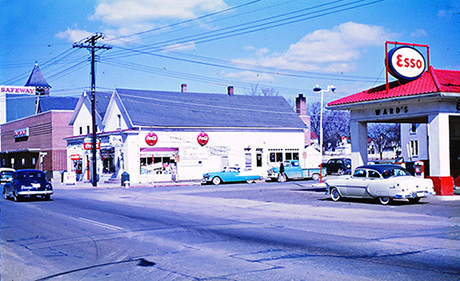 North Frederick Avenue and Brookes Avenue, Gaithersburg, Maryland, February 19, 1956.jpg