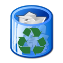 Recycling trashcan icon 한국어: 재활용 쓰레기통 아이콘