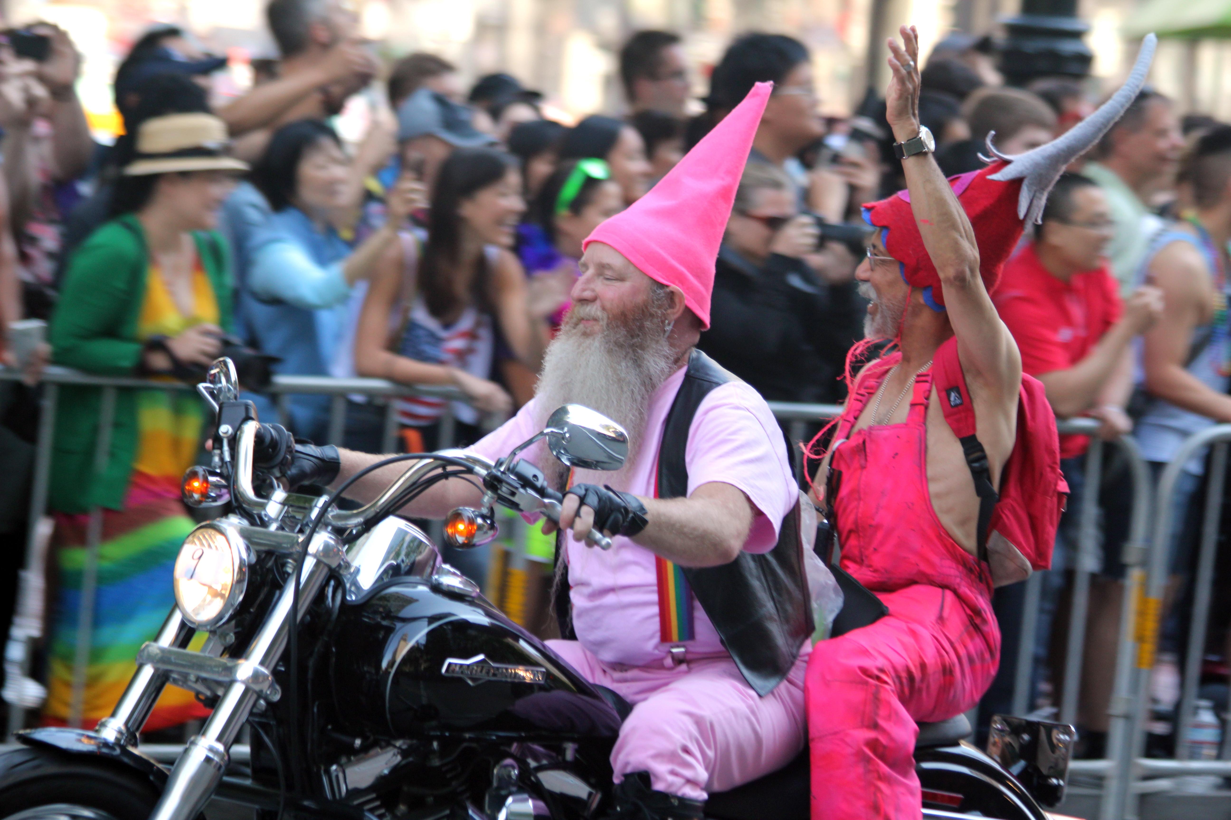 old bikers File:Old bikers in big hats (9180344668).jpg