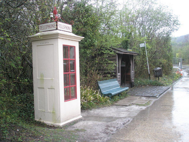 Fileold Fashioned Telephone Box Within Amberley Working Museum