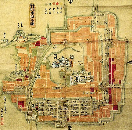 FileOld map of Himeji castlejpg Wikimedia Commons