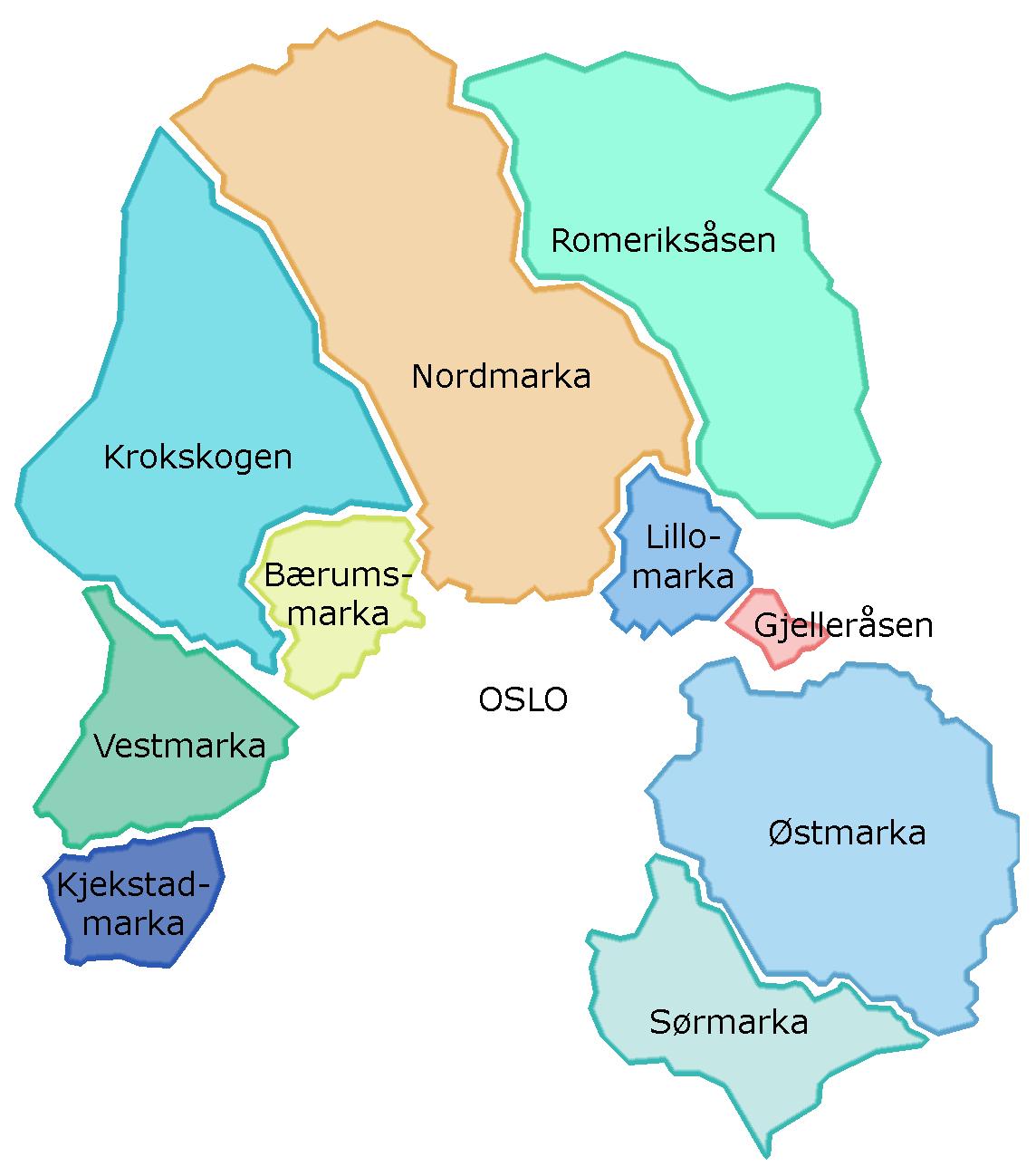 kart over romeriksåsen Marka, Oslo – Wikipedia kart over romeriksåsen