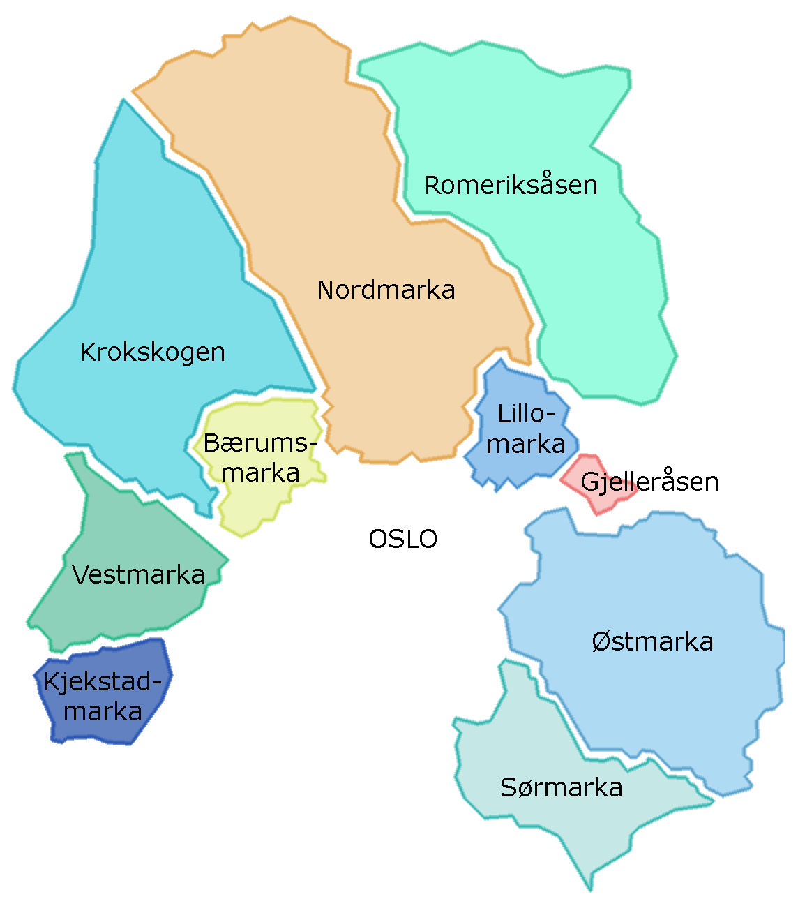 kart over nordmarka oslo Nordmarka – Wikipedia kart over nordmarka oslo
