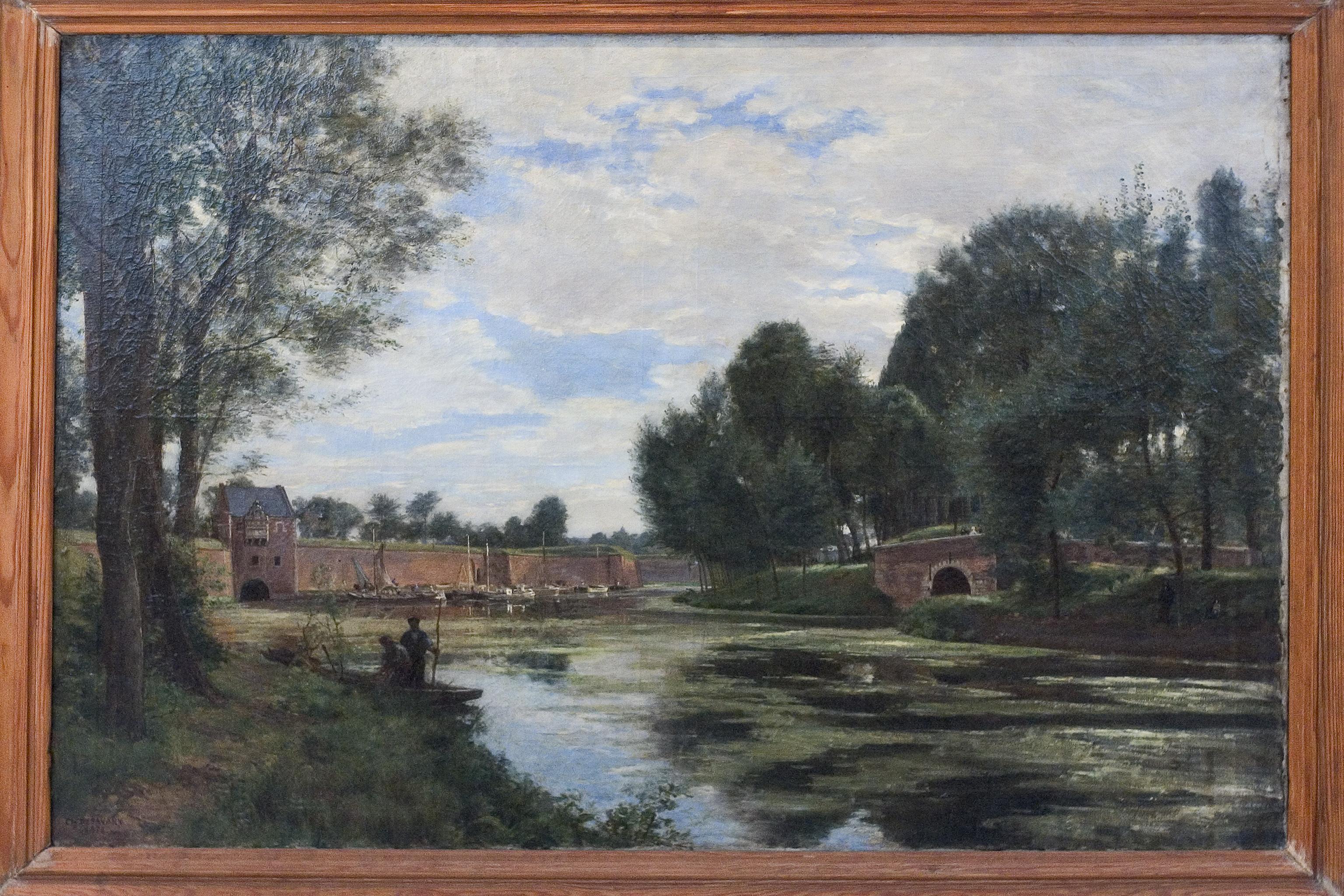 Charles Desavary - La porte d'eau et le pont de grès à Arras