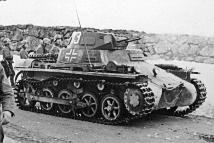 A Panzer I Ausf. A during the campaign