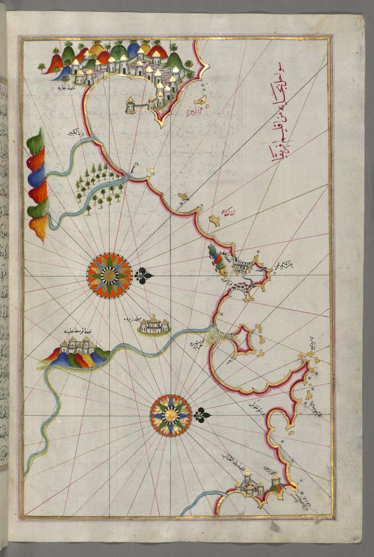 FilePiri Reis Map Of The Algerian Coast From The Port Of Bejaia - Béjaïa map