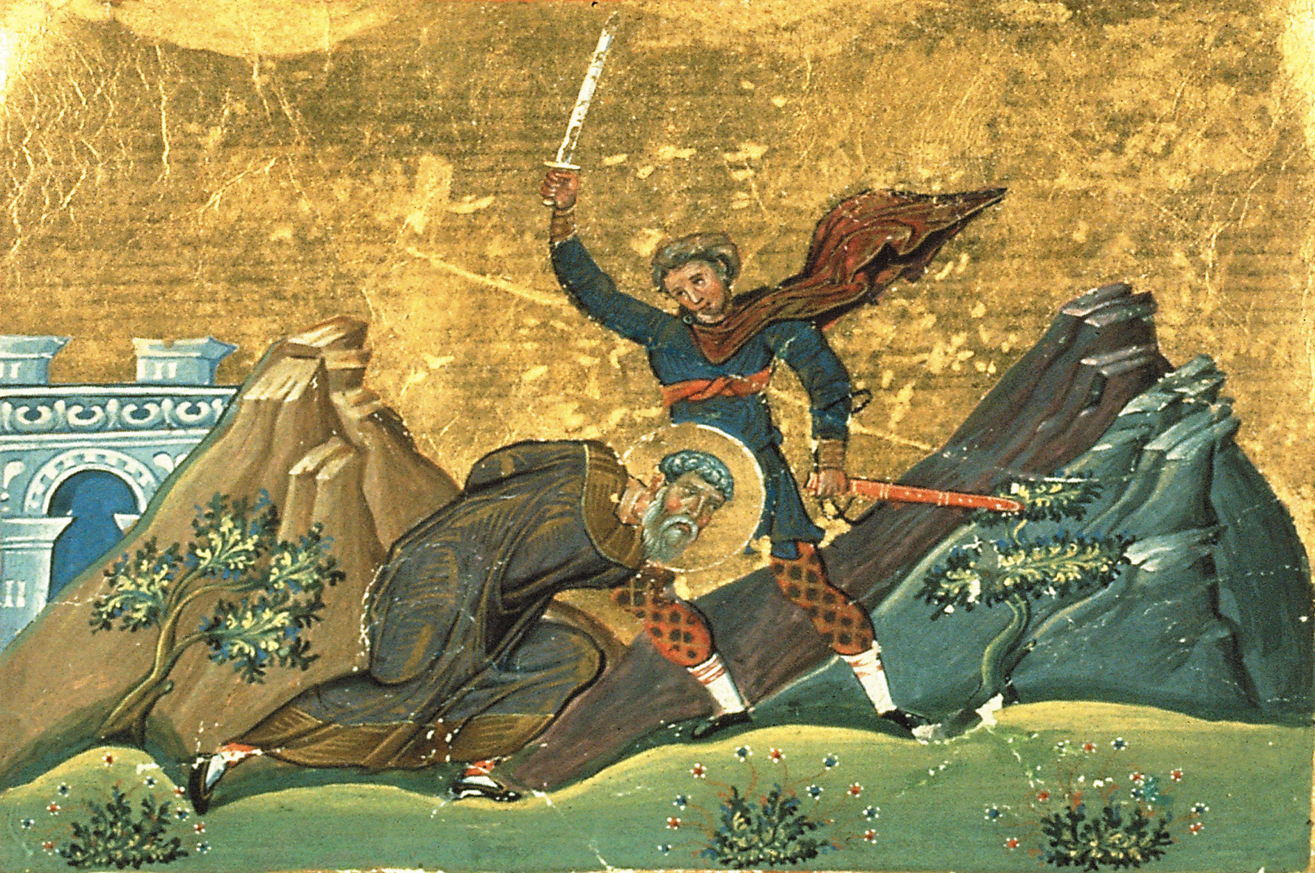 Saints et Saintes du jour - Page 14 Polyeuctus_of_Meletine_in_Armenia_%28Menologion_of_Basil_II%29