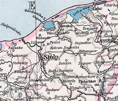 Stolp Pommern 1945