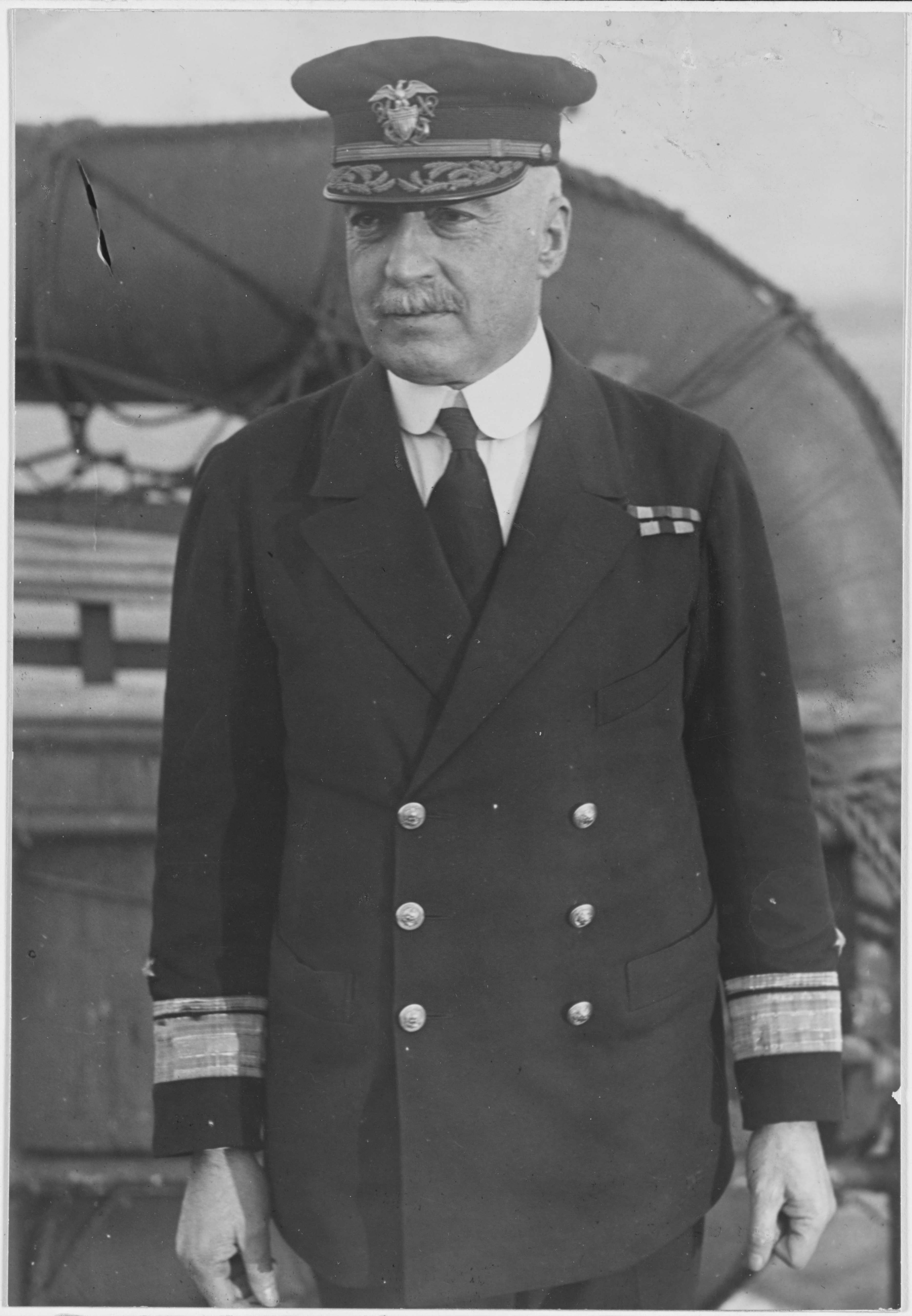 Rear Admiral Joseph Strauss aboard {{USS|Black Hawk|AD-9|2}} in 1919