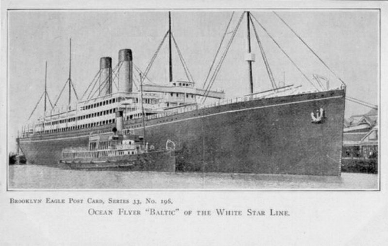 Postcard for the RMS Baltic.