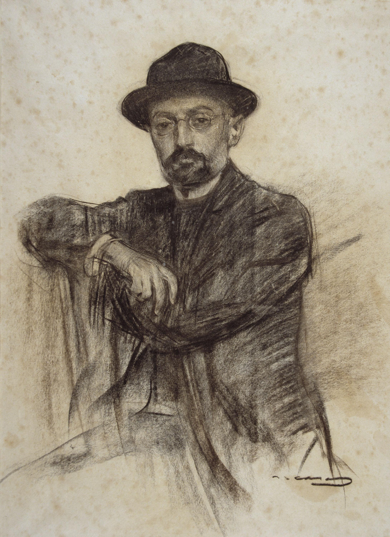 Unamuno visto por Ramon Casas (MNAC).