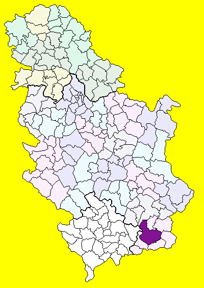 karta srbije vranje Grad Vranje   Wikipedia karta srbije vranje