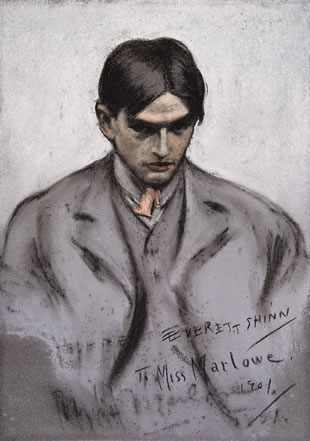 Self-portrait done in 1901 in his charcoal style.