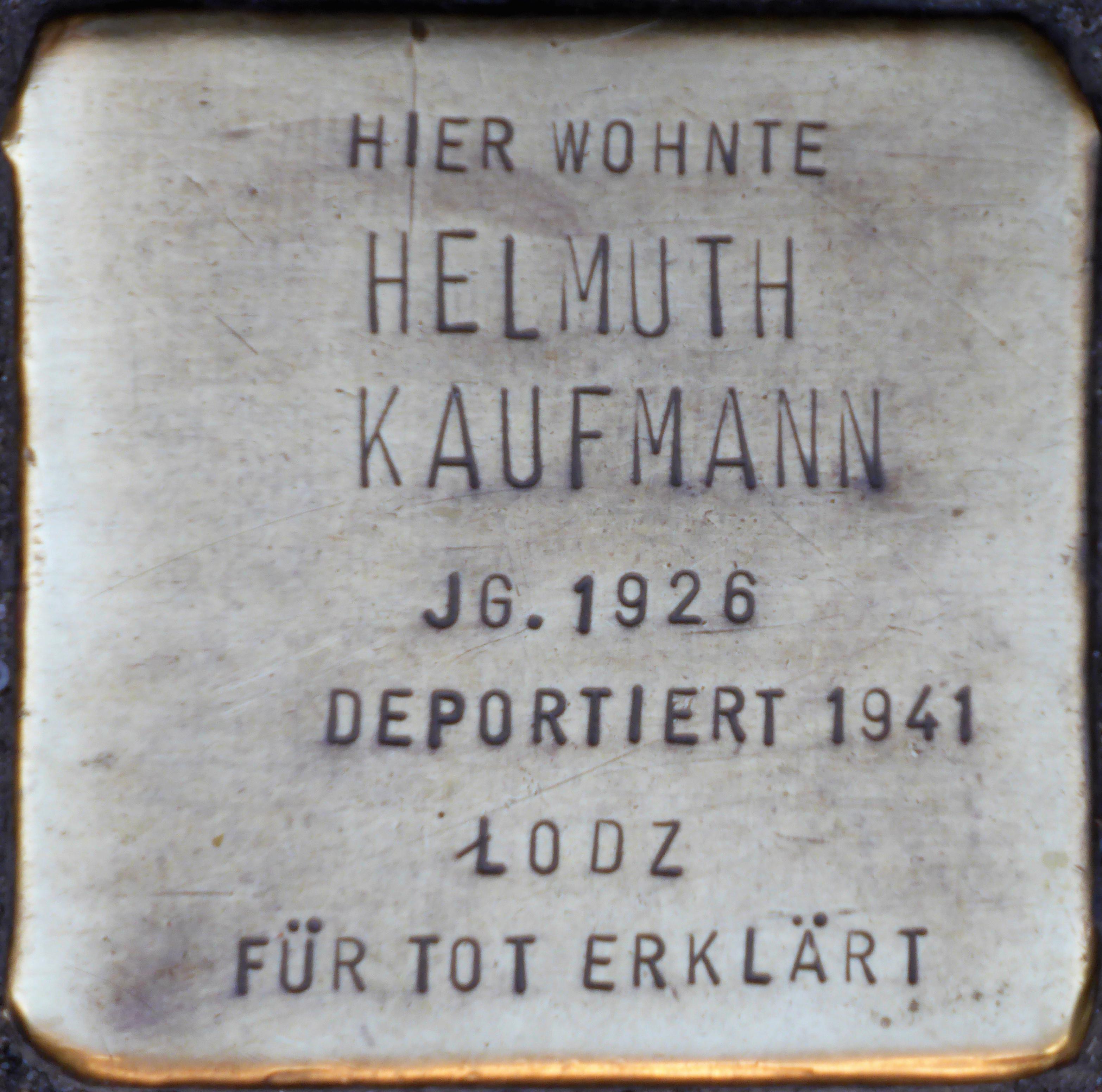 datei stolpersteine k ln helmuth kaufmann kart userwall 7 jpg wikipedia. Black Bedroom Furniture Sets. Home Design Ideas