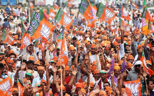 Manifestación de seguidores del BJP. Autor: Bharatiya Janata Party, 24/05/2014. Fuente: Flickr (CC BY-SA 2.0)