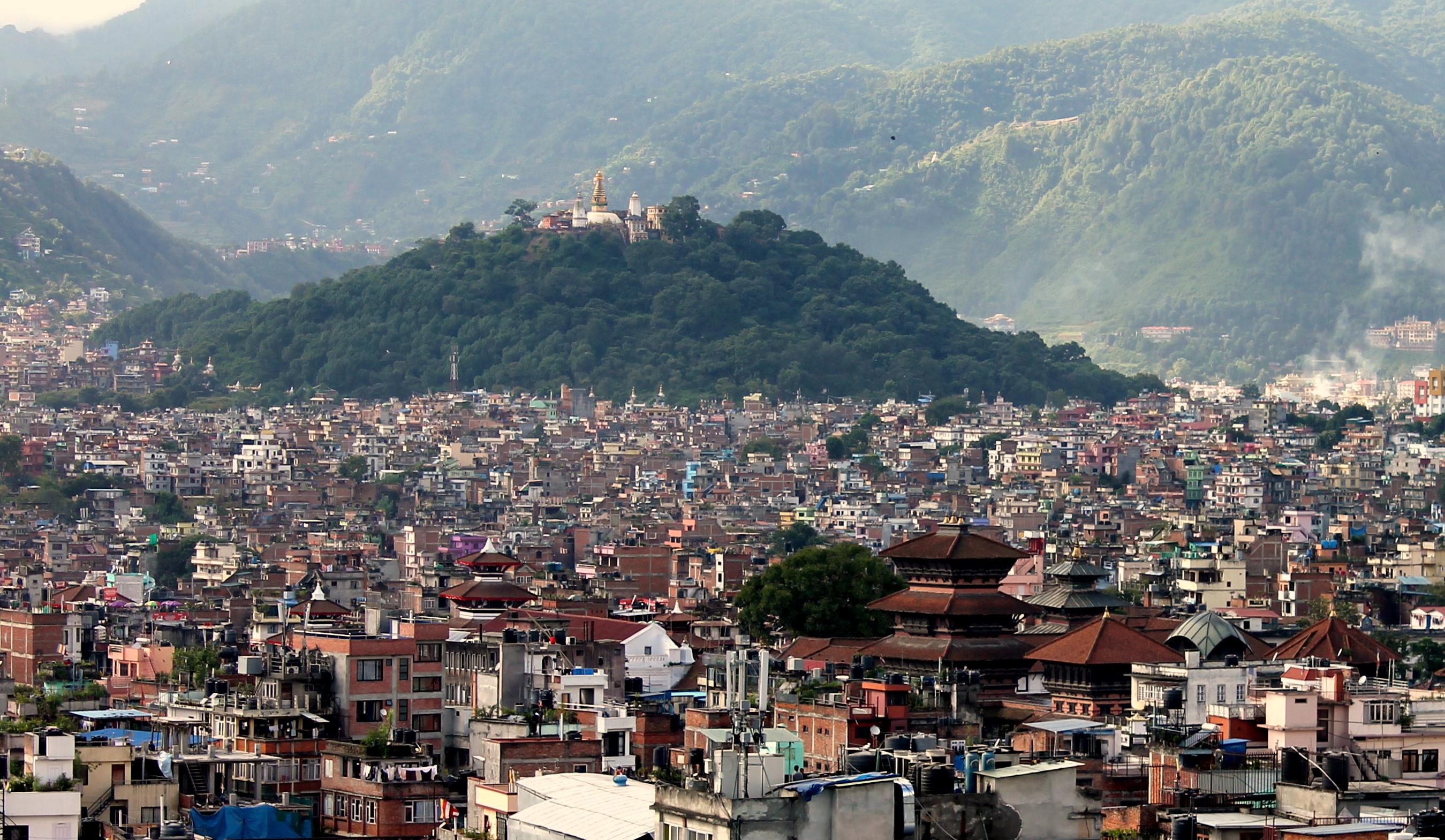 File:Swayambhunath Stupa as seen from Dharahara.JPG - Wikimedia Commons