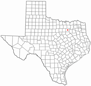 Location of Dallas, Texas