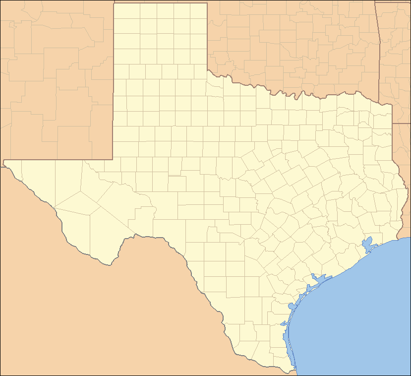 Map Of Northwest Texas.List Of Counties In Texas Wikipedia