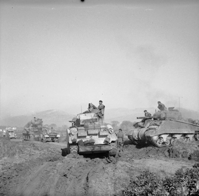 Sherman tanks, north of the Garigliano River