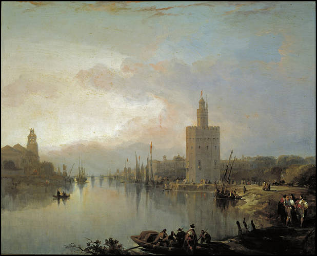 Archivo: El Guadalquivir y la Torre del Oro de David Roberts.jpg