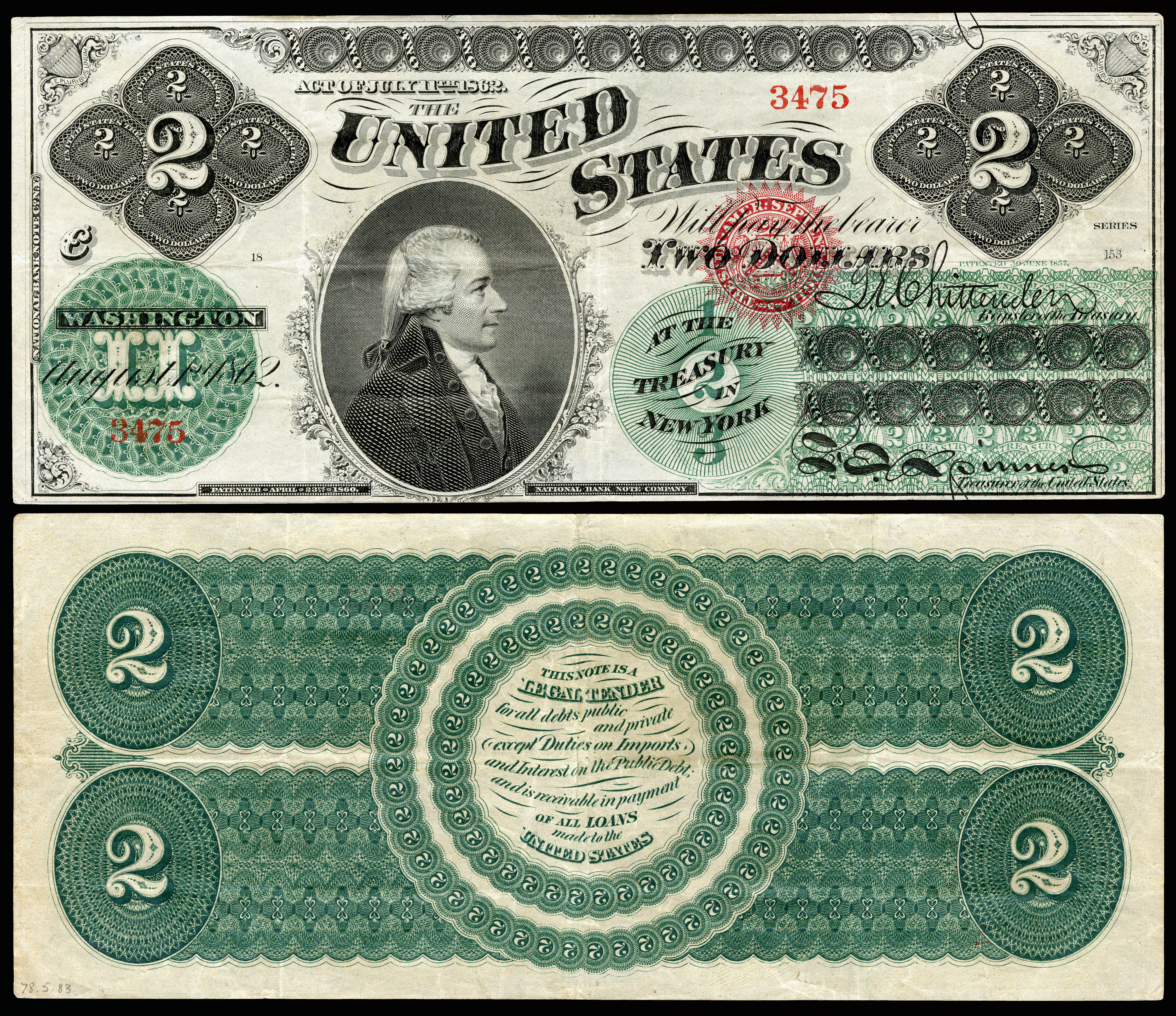 Reproduction $50 1863 LT US Paper Money Currency Copy