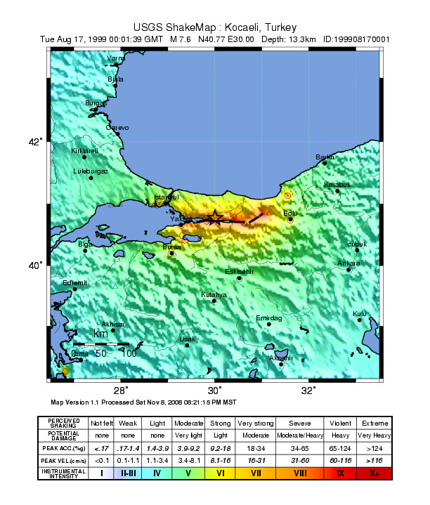 Izmit – Turkey Earthquake August 1999