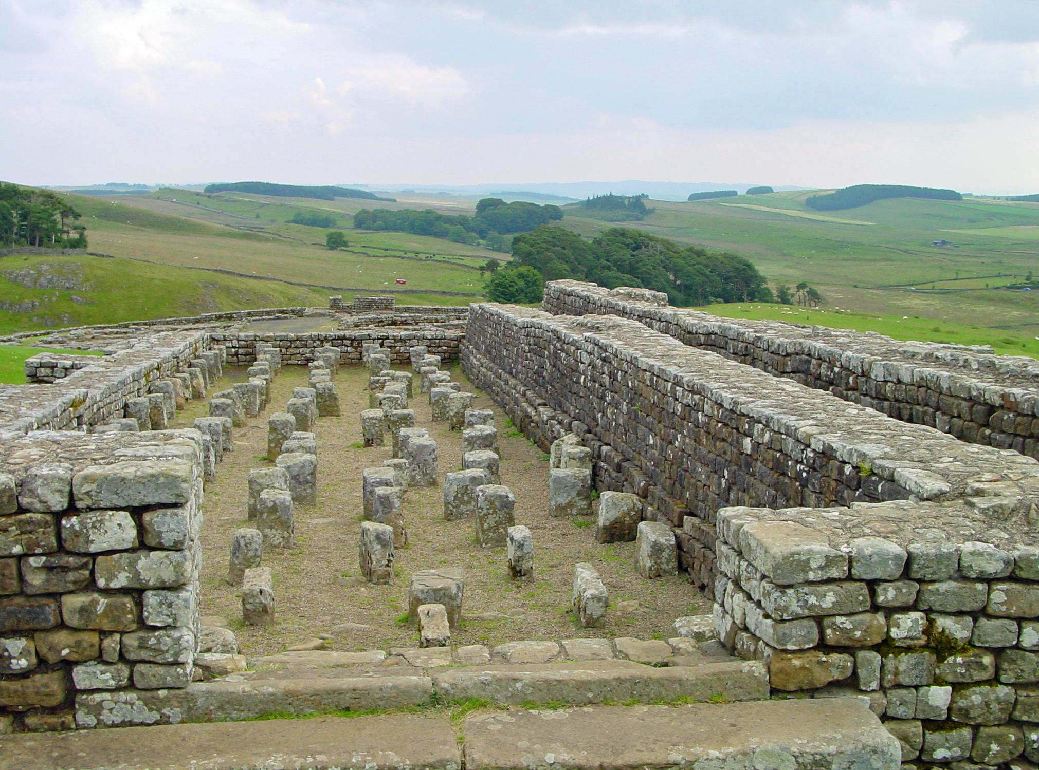 Wall Height File Vindolanda Hadrians Wall 2477723917 Jpg Wikimedia