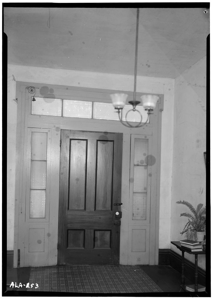 Poole house 1936 interior view of front hall door first floor jpg