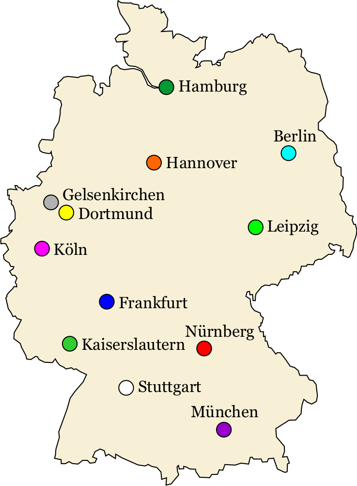 Austragungsorte der WM 2006