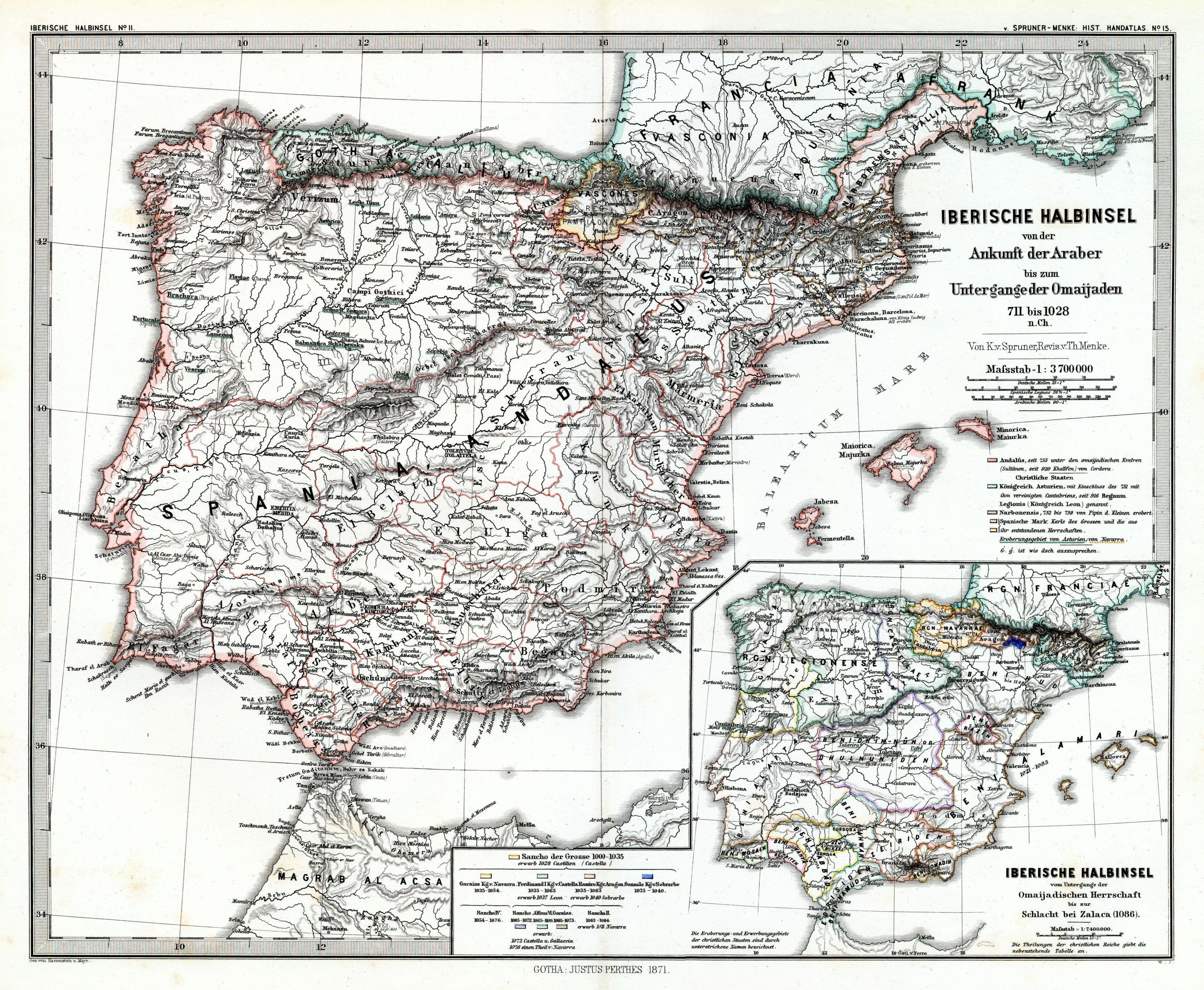 File:(Spruner-Menke, map 15) The Iberian peninsula 711-1028 ...