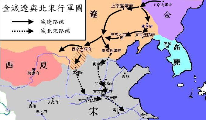 Tập tin:金滅遼與北宋形勢圖.png