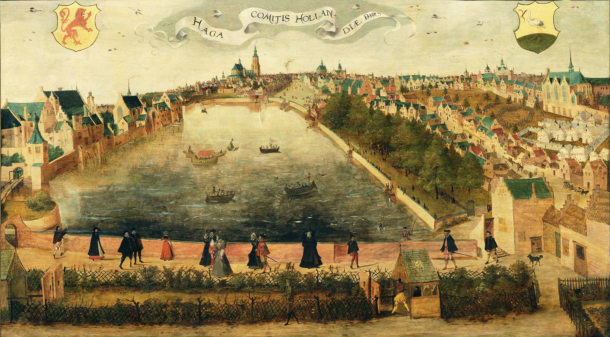 File:1567, Den Haag, De Hofvijver Gezien vanaf de Doelen.png